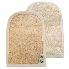 Loofah bath mitt with terry Agiva
