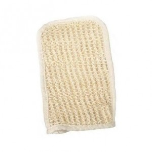 Bath mitt with sisal and terry Agiva