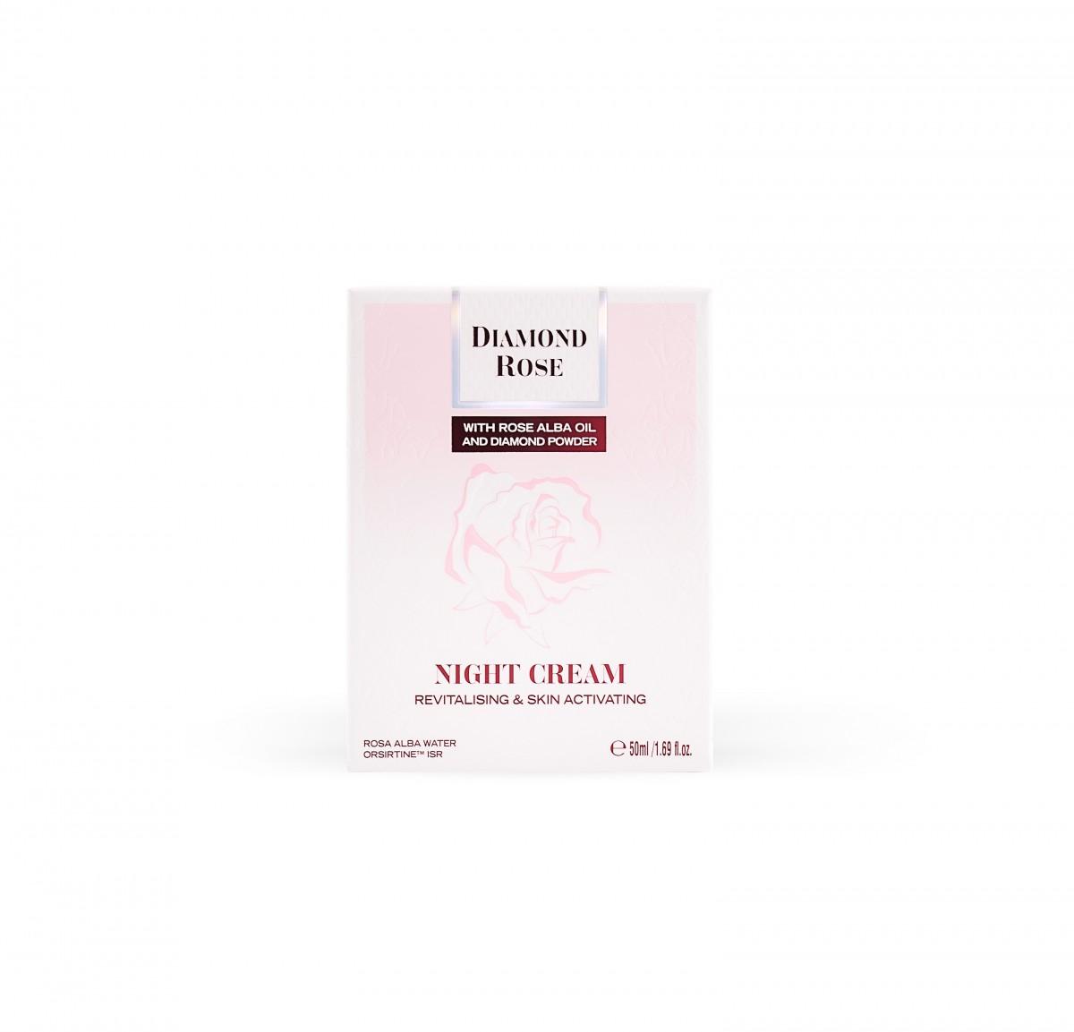 Ревитализиращ нощен крем Diamond Rose Biofresh