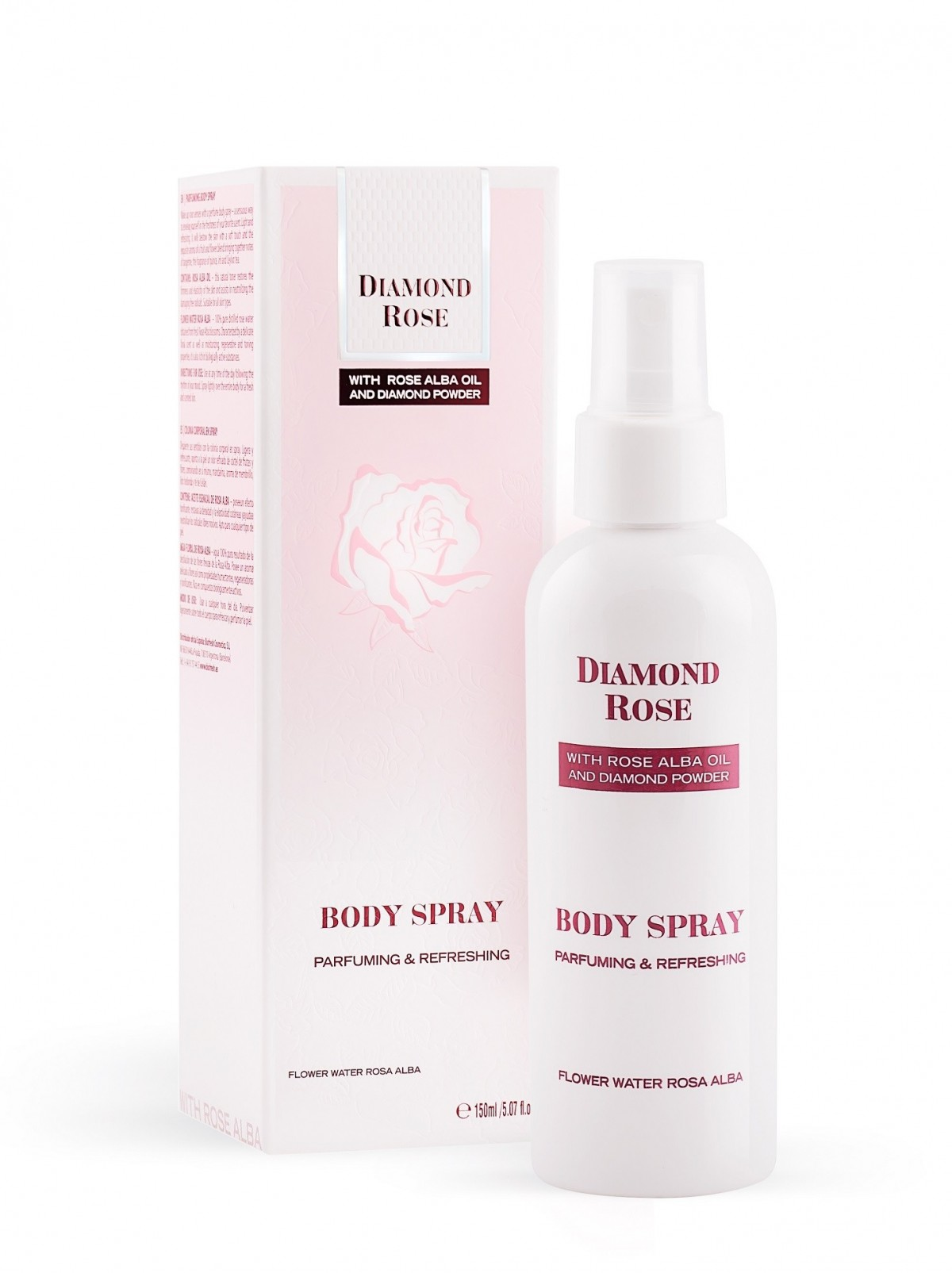Parfuming body spray Diamond Rose Biofresh