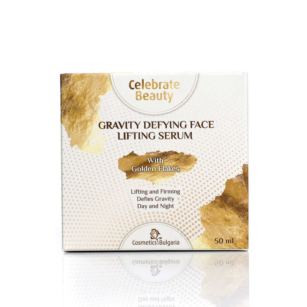 Gravity defying face lifting serum Celebrate Beauty Cosmetics Bulgaria