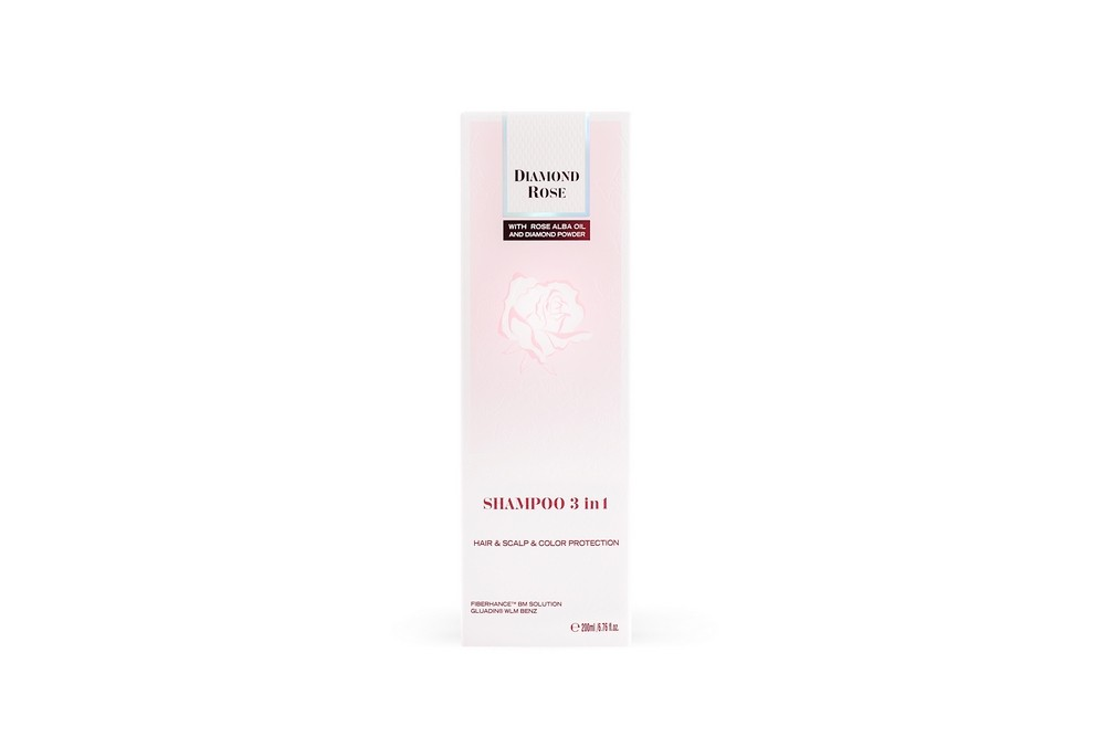 Shampoo 3 in 1 for intensive care for hair, scalp and color Diamond Rose Biofresh