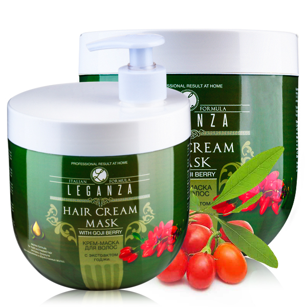 Cream-mask for hair with goji berry extract with a pump Leganza Rosa Impex