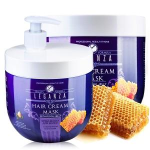 Крем-маска за коса с пчелно млечице с помпа Leganza Rosa Impex