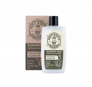 Refreshing Hair and Body Soap with Seeweed and Mint Men's Master Professional