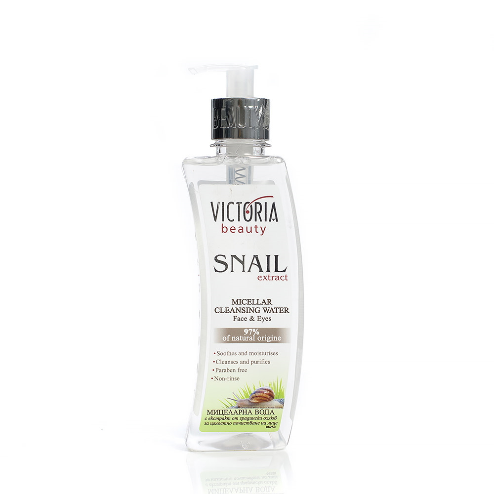 Cleansing micellar water with garden snail extract 400 ml.