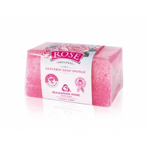 Glycerin soap-sponge with rose water Rose Original Bulgarian Rose