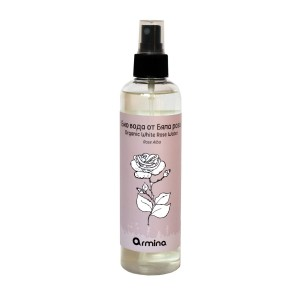 Bio white Rosa Alba flower water Armina Bio PET bottle 250 ml