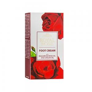 Foot cream with 100% pure Bulgarian rose oil Royal Rose Biofresh