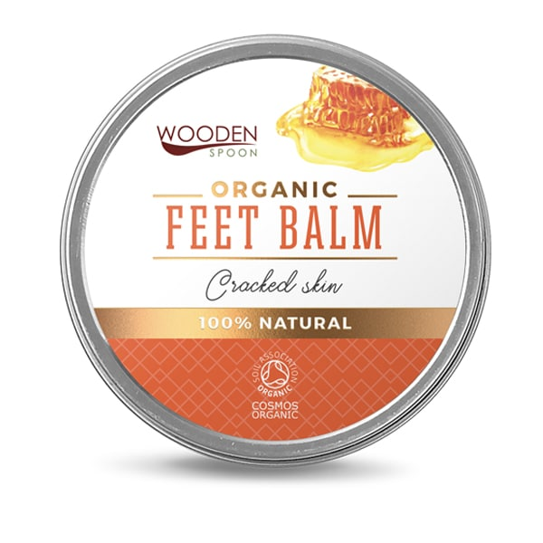 Organic Feet Balm Cracked Skin Wooden Spoon