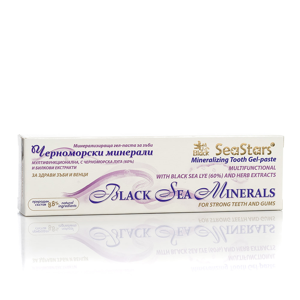 Mineralizing gel-toothpaste with sea lye Black Sea Stars