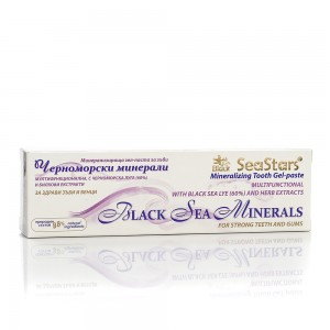 Mineralizing gel-toothpaste with sea lye Black Sea Stars