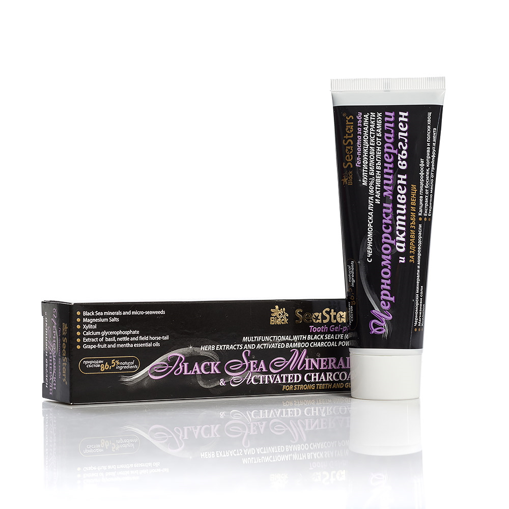 Multifunctional gel-toothpaste with activated charcoal Black Sea Stars