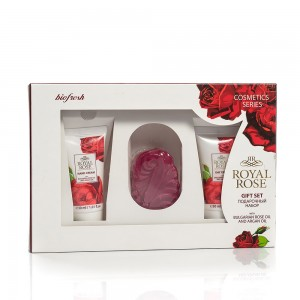 Women's gift set with decorative soap Royal Rose Biofresh