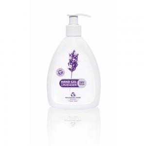 Hand hygiene gel for hands with lavender Bulgarian Rose Karlovo 290 ml.