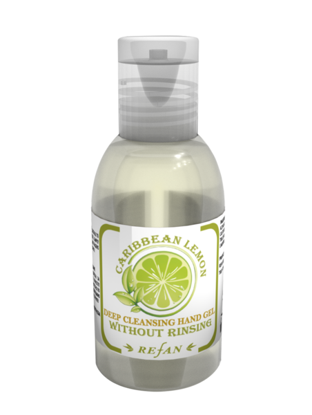 Deep cleansing hand gel Carribean Lemon Refan