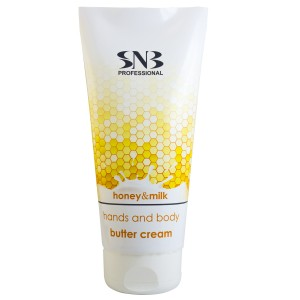 Body butter cream for hands and body with honey and milk SNB