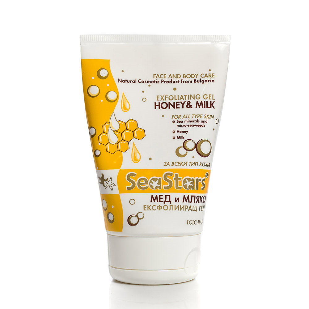 Exfoliating gel for face and body Honey and Milk Black Sea Stars