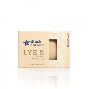 Soap with black sea lye and kaolin Black Sea Stars