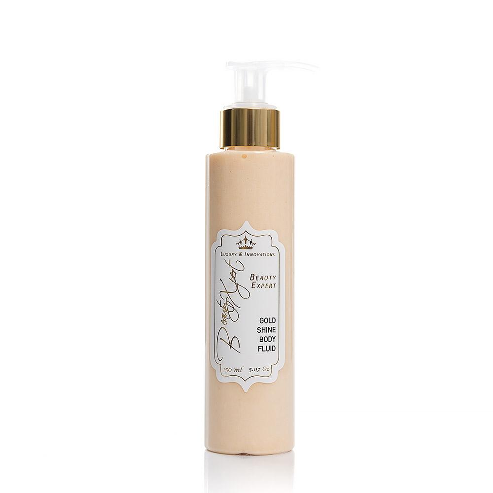 Златен блестящ флуид за тяло Light Beauty Xpert