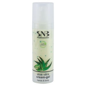Cream-gel for hands and body with aloe vera capsules 30 ml. SNB