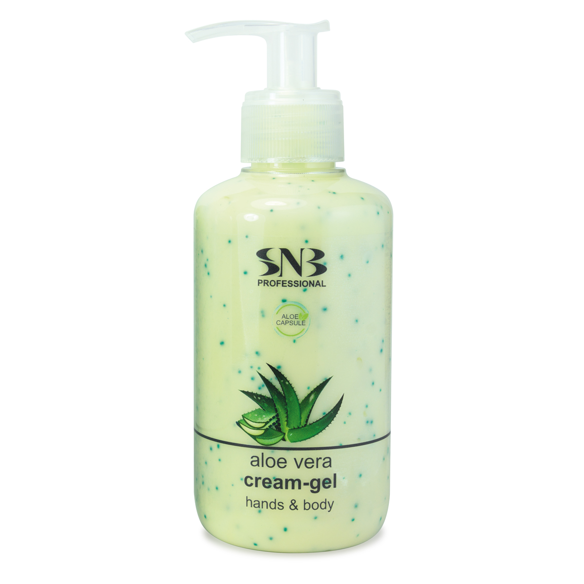 Cream-gel for hands and body with aloe vera capsules 250 ml. SNB