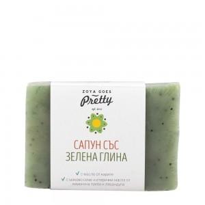 Green clay and lemongrass soap Zoya Goes Pretty