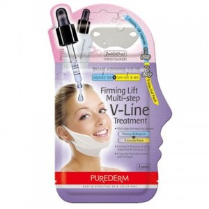 Повдигаща и изглаждаща маска + серум за V зона Purederm