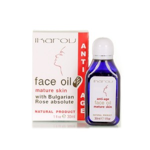 Rejuvenating face and neck oil for mature skin Ikarov