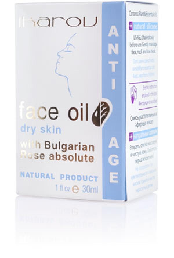 Rejuvenating face and neck oil for dry skin Ikarov