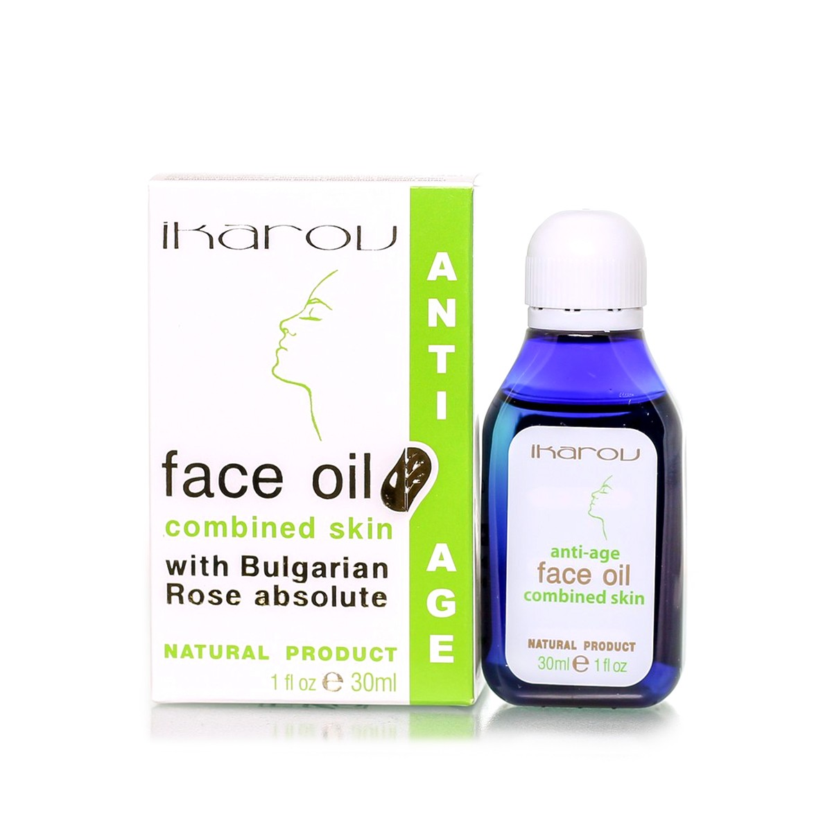 Rejuvenating face and neck oil for oily and combination skin Ikarov