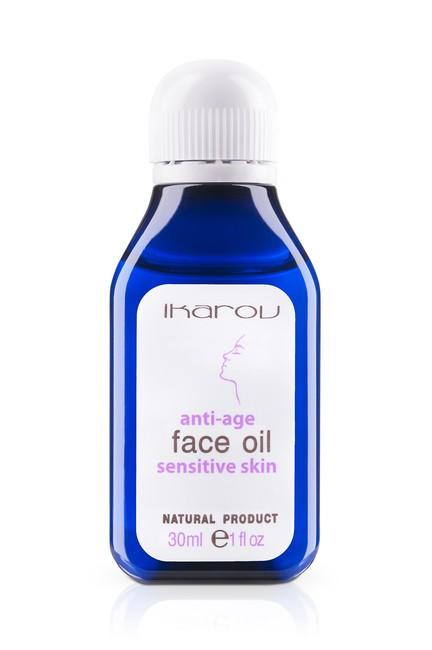 Подмладяващо масло за лице, шия и деколте за чувствителна кожа Ikarov