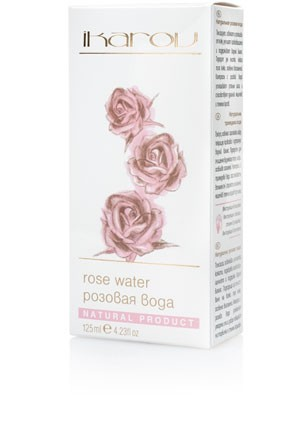 Natural cleansing rose water for face Ikarov