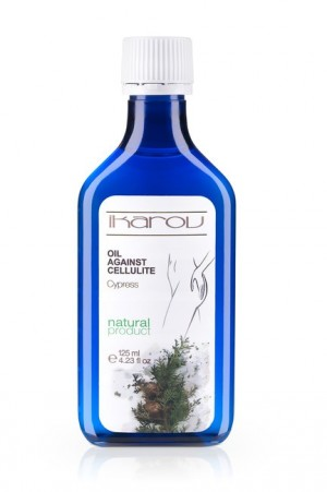 Anti cellulite massage body oil with cypress Ikarov