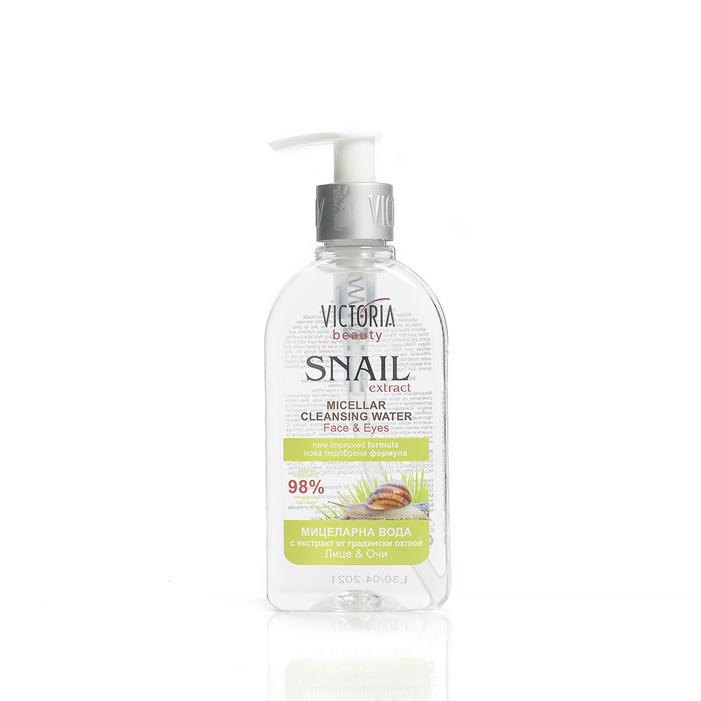 Cleansing micellar water with a garden snail extract Victoria Beauty