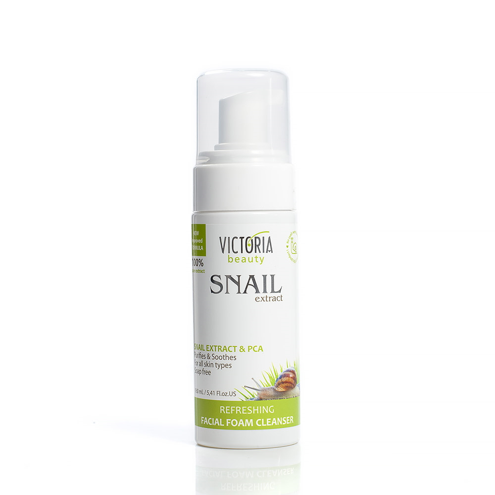 Cleansing facial foam with a garden snail extract Victoria Beauty
