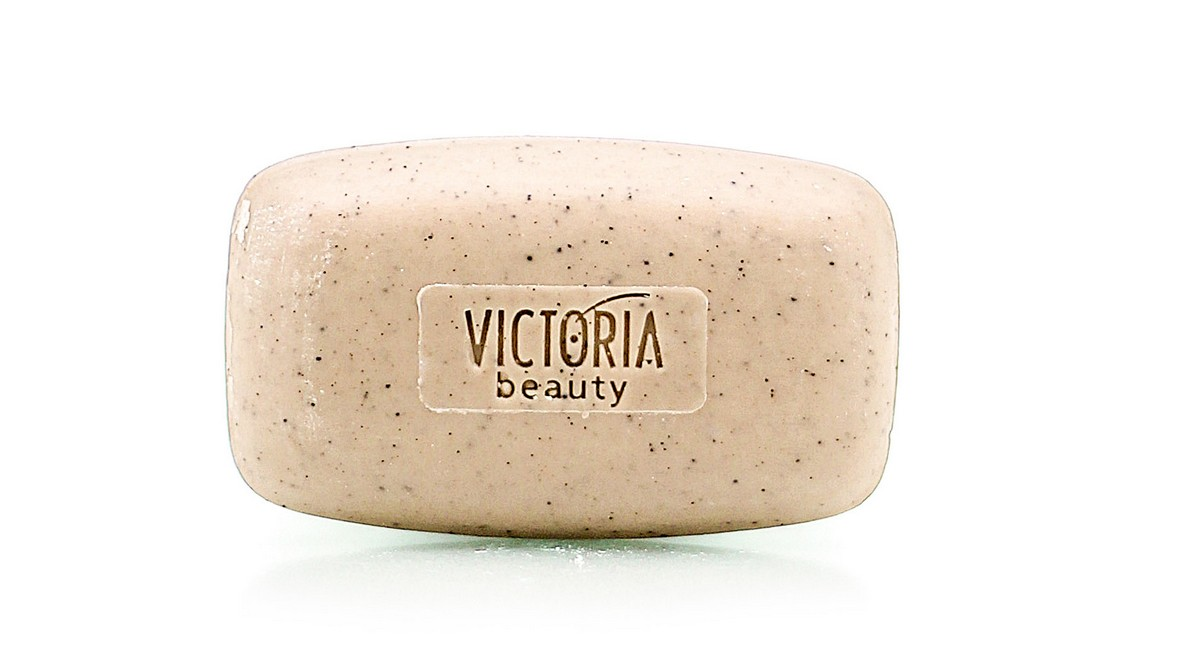 Gentle exfoliating soap with a garden snail extract and coffee Victoria Beauty