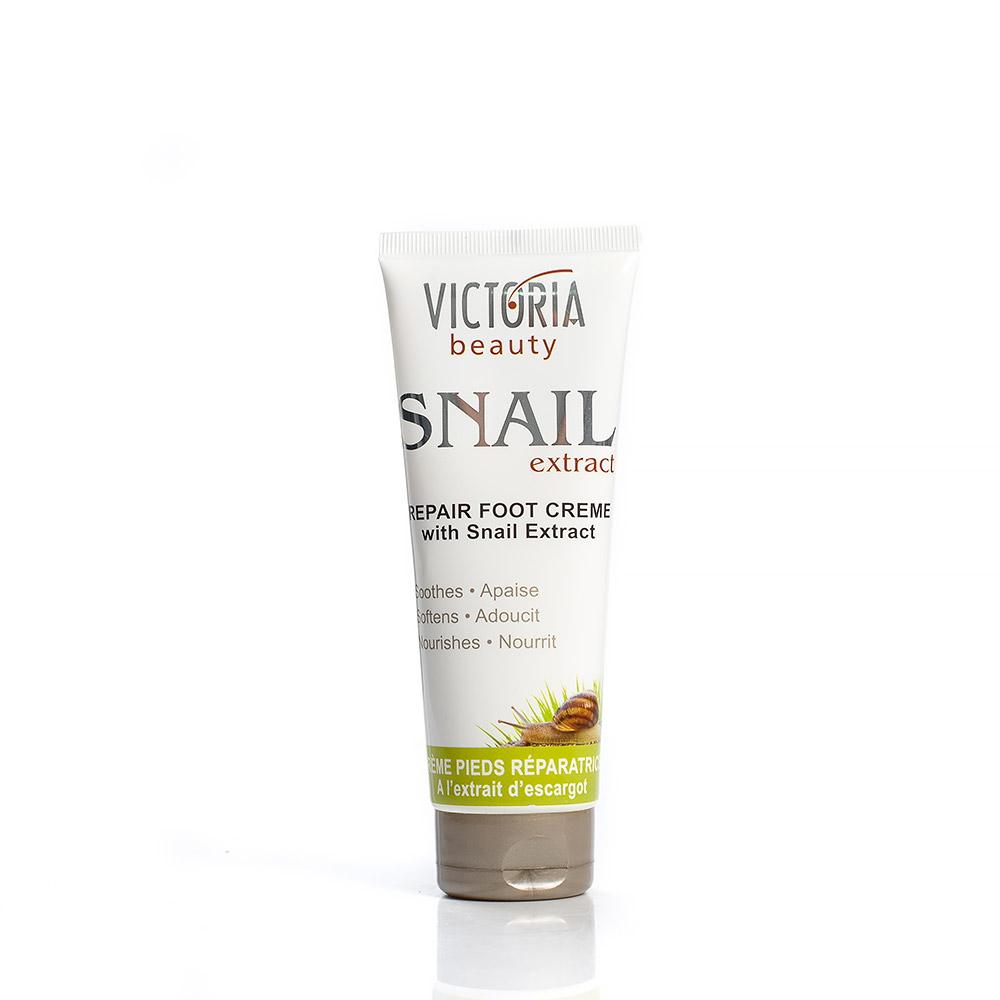 Възстановяващ крем за крака с екстракт от градински охлюв Victoria Beauty