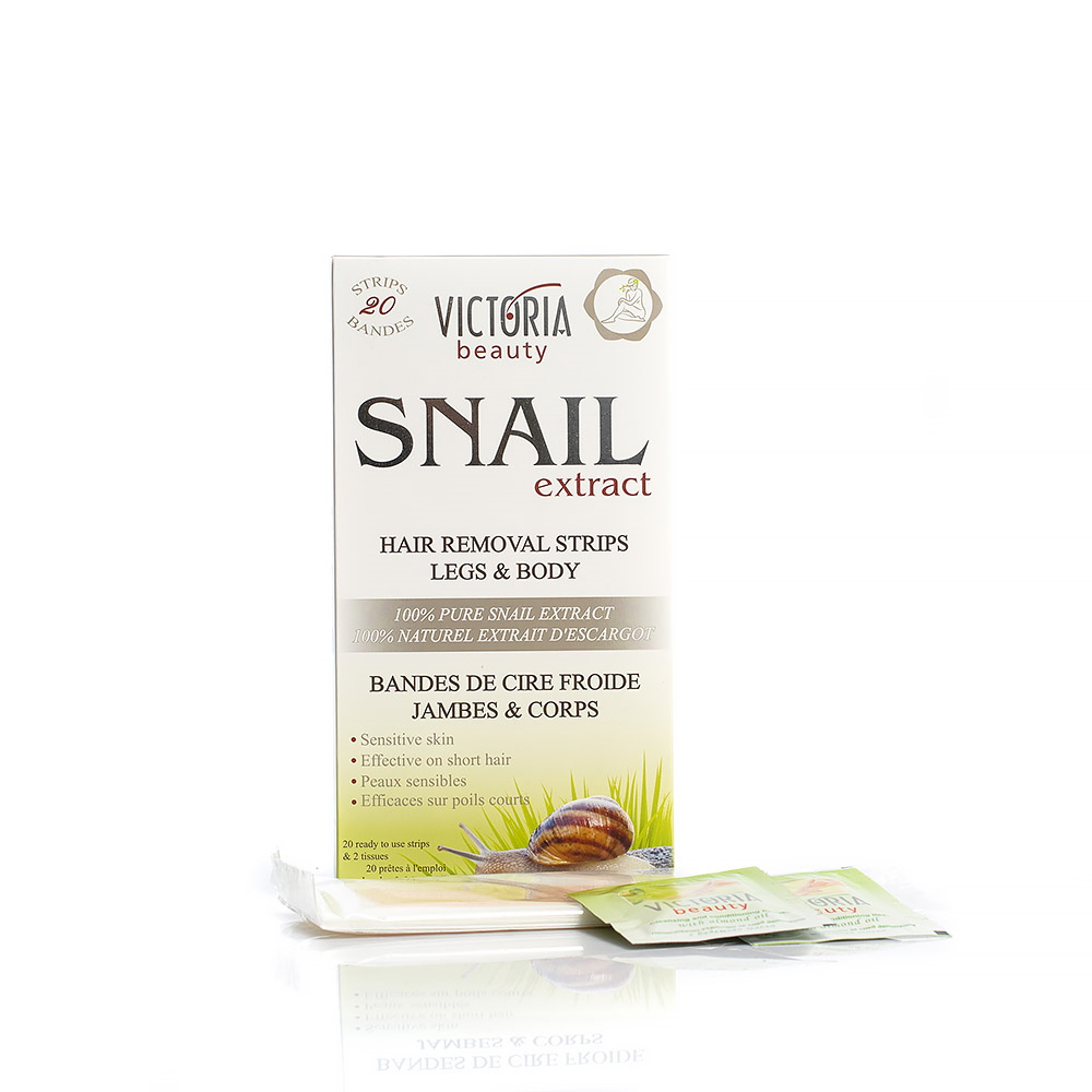 Hair removal strips for body and legs with a garden snail extract Victoria Beauty