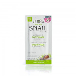 Exfoliating mask for feet with a garden snail extract Victoria Beauty