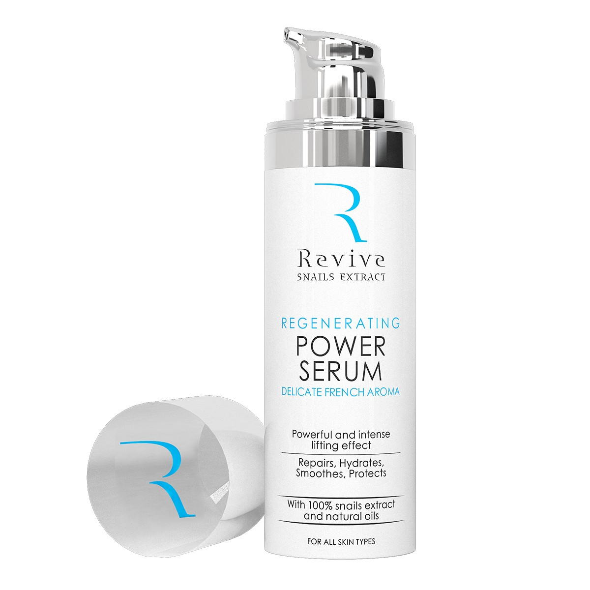 Intensive face serum with snail extract and a delicate French aroma Revive