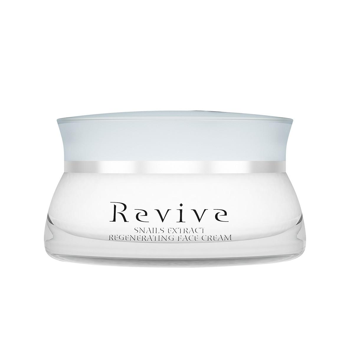 Регенериращ крем за лице с екстракт от охлюви и деликатен аромат Revive