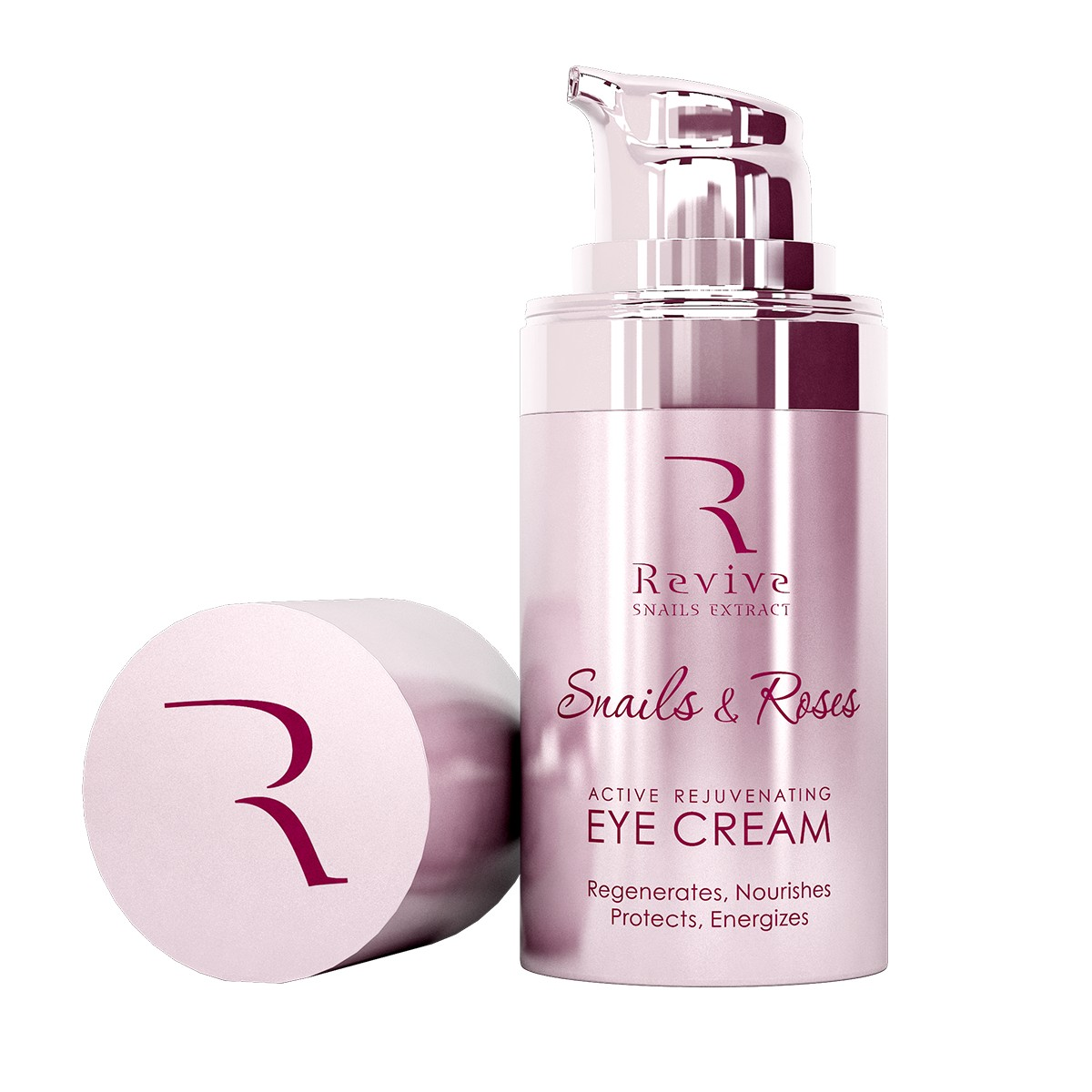 Intensive rejuvenating eye cream with rose oil and snail extract Revive