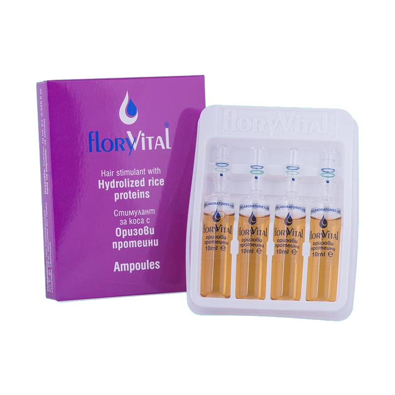 Hair stimulant with hydrolyzed rice proteins FloryVital
