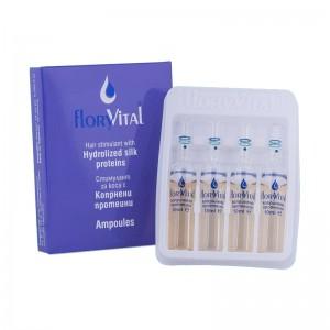 Стимулант за коса с копринени протеини FloryVital