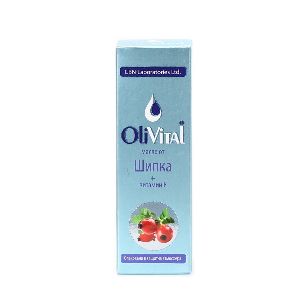Natural rosehip oil with vitamin E OliVital CBN Laboratories
