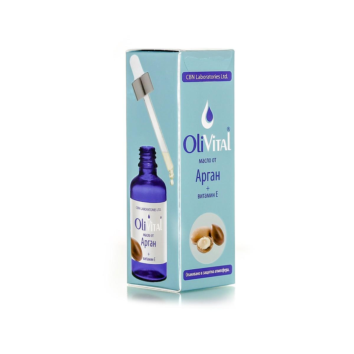 Natural argan oil with vitamin E OliVital CBN Laboratories