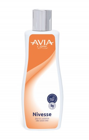 Shower gel with natural Fuller's earth Nivesse Avia