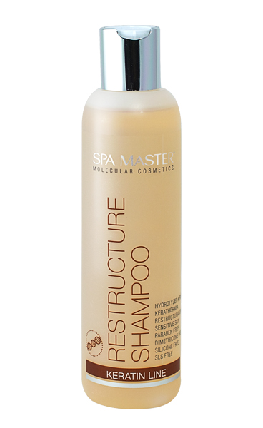 Hair restructuring shampoo with keratin Spa Master Molecular Line Rosa Impex