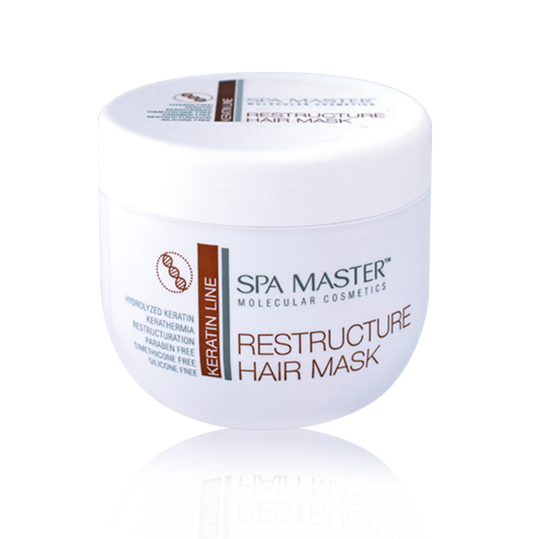 Hair restructuring mask with keratin Spa Master Molecular Line Rosa Impex